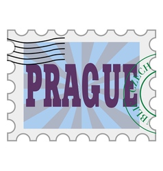 post stamp of Prague vector image