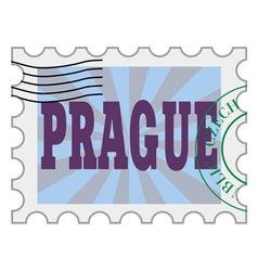 post stamp of Prague vector image
