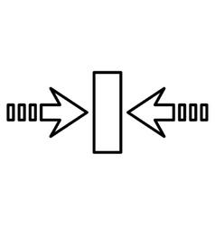 Pressure Horizontal Thin Line Icon vector