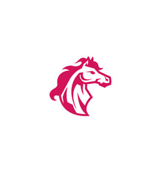 red horse logo vector image