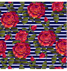 red rose seamless pattern for your design vector image