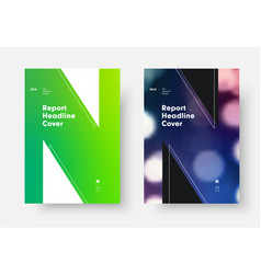 report cover template with green soft gradient vector image