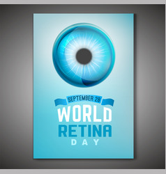 retina day poster vector image