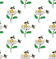 Seamless pattern with bee - 4 vector