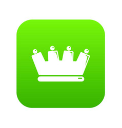 silhouette crown icon green vector image