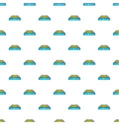 Square stadium pattern cartoon style vector