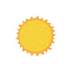 sun on white isolated vector image