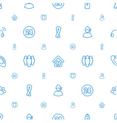 Support icons pattern seamless white background vector
