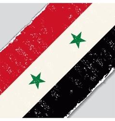 Syrian grunge flag vector
