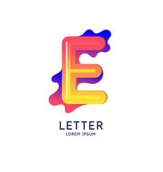 The letter e latin alphabet display vector