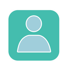 User account box glyph color icon vector