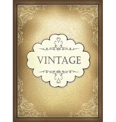 vintage background a4 vector image