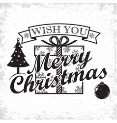 vintage christmas lettering vector image