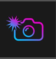Web icon modern line art camera camera vector