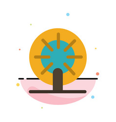 wheel boat ship ship abstract flat color icon vector image