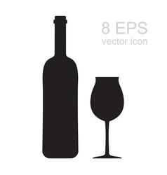 Wine glass icon vector