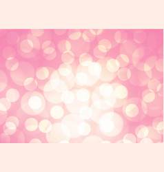 abstract soft pink light bokeh background vector image vector image