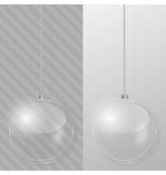 Glass Christmas ball Design template vector image vector image