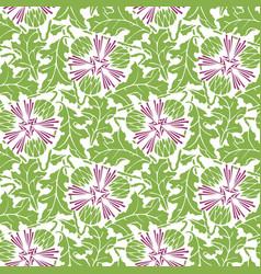 Greenery blowball seamless pattern background vector