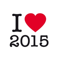 i love 2015 vector image