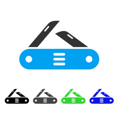 swiss multitool knife flat icon vector image vector image