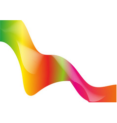 Abstract great rainbow waves colorful gradient vector