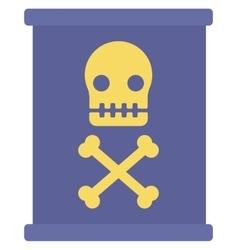 Barrel with skull and bones vector image vector image