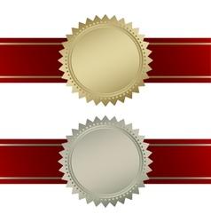 Blank guarantee vector image