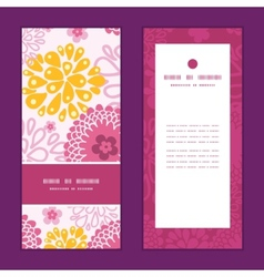 pink field flowers vertical frame pattern vector image