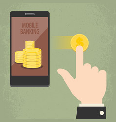 smart mobile banking vector image vector image