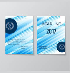 Abstract blue brochure design template vector