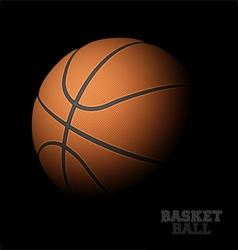 Basketball on black vector image vector image