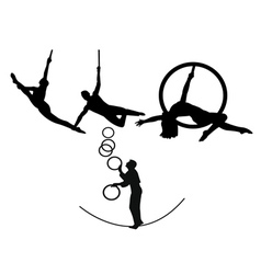 Circus trapeze artists vector