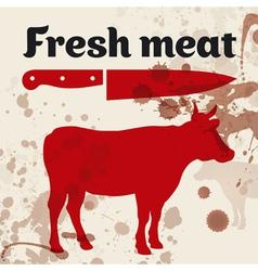 Fresh meat beef vector image vector image