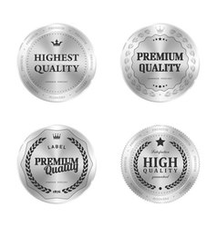 Metal label shopping vector