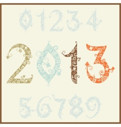 New year 2013 two thousand and thirteen Set of vector image