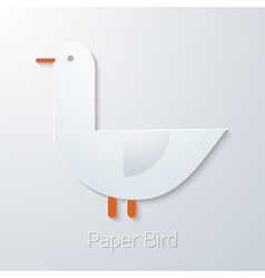Summer Travel Paper Seagull Bird flat icon vector image vector image