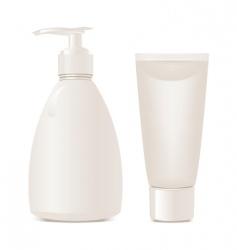vector cosmetics soap and gel vector image vector image