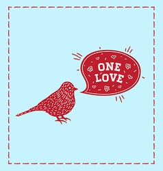 Birds one love vector image