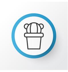 cactus icon symbol premium quality isolated vector image vector image