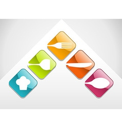 Colorful gourmet icons set vector image