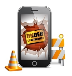 Mobile Phone Under Construction vector image vector image