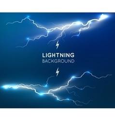 New lightning flash strike background vector image