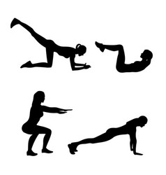 abstract of fitness exercises vector image