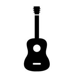 Acoustic guitar icon isolated on white vector