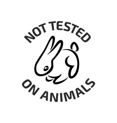 Animal testing black logo icon with rabbit vector