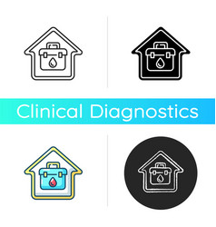 at home blood test icon vector image