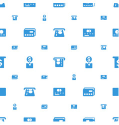 Atm icons pattern seamless white background vector