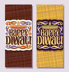 banners for indian diwali vector image