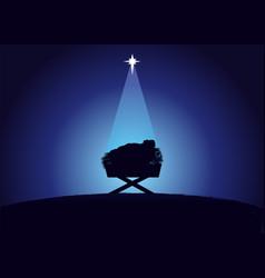 Birth christ baby jesus vector